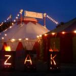 ZAK Zelt Horizont bei Nacht